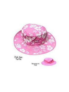 KHRPF UV Reversible Bucket Hat-Pink Floral-Ages 2-5
