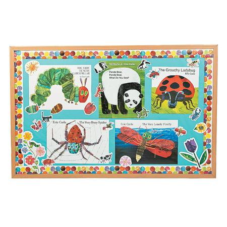 Fun Express - World Of Eric Carle Bulletin Board Set - Educational - Classroom Decorations - Bulletin Board Decor - 33 Pieces Classroom Bulletin Board Decorations
