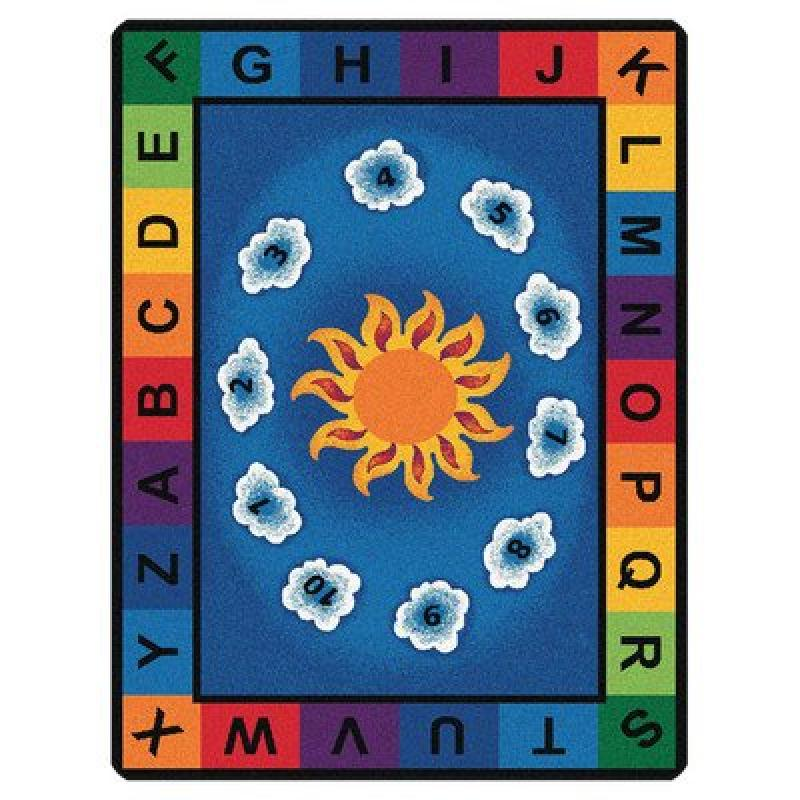 "Carpets for Kids  Sunny Day Learn and Play Rug, Oval, 4'5""x5'10"""