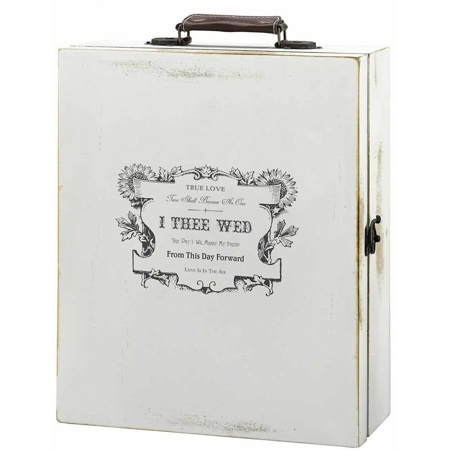 Antique White Wine Box, True Love