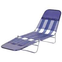 Worldwide Sourcing S65002-B Folding Chaise Lounge, 22.78 in H x 15-1/4 in W x 26 in D, PVC, Royal Bl
