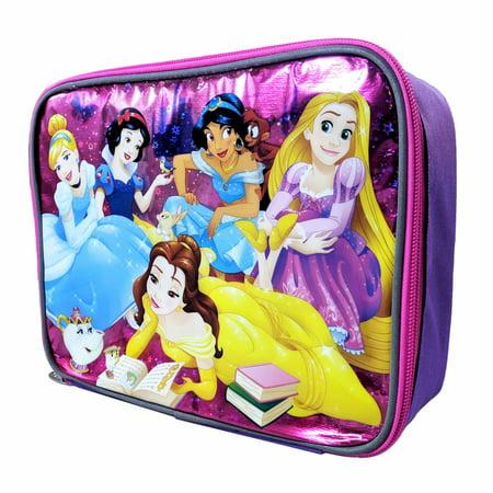 Disney Princess Girls Insulated Lunch Bag School Tote Sturdy Zipper