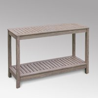 Stonne Patio Console Table, Weathered Grey
