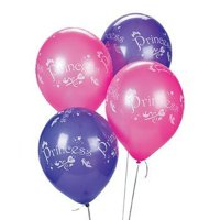 25 Lavender & Pink Princess Latex Balloons - Balloons & Printed Balloons