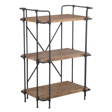 Brandon Outdoor Wood and Iron 3-Tier Shelf Etagere ()