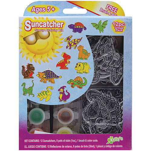 Suncatcher Group Activity Kit, Dinosaur, 12/pkg