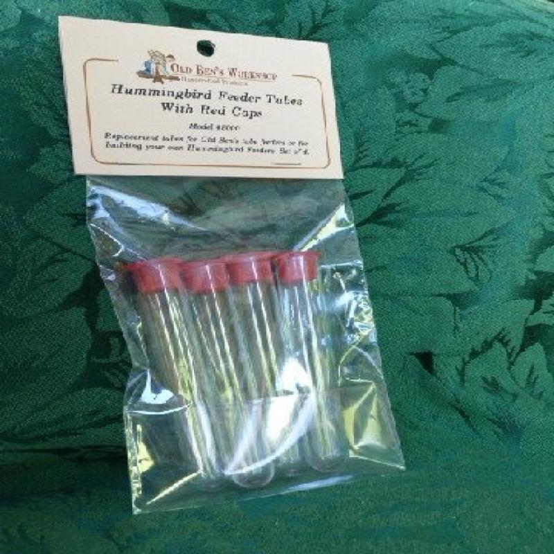 Hummingbird Feeder Tubes with Red Cap
