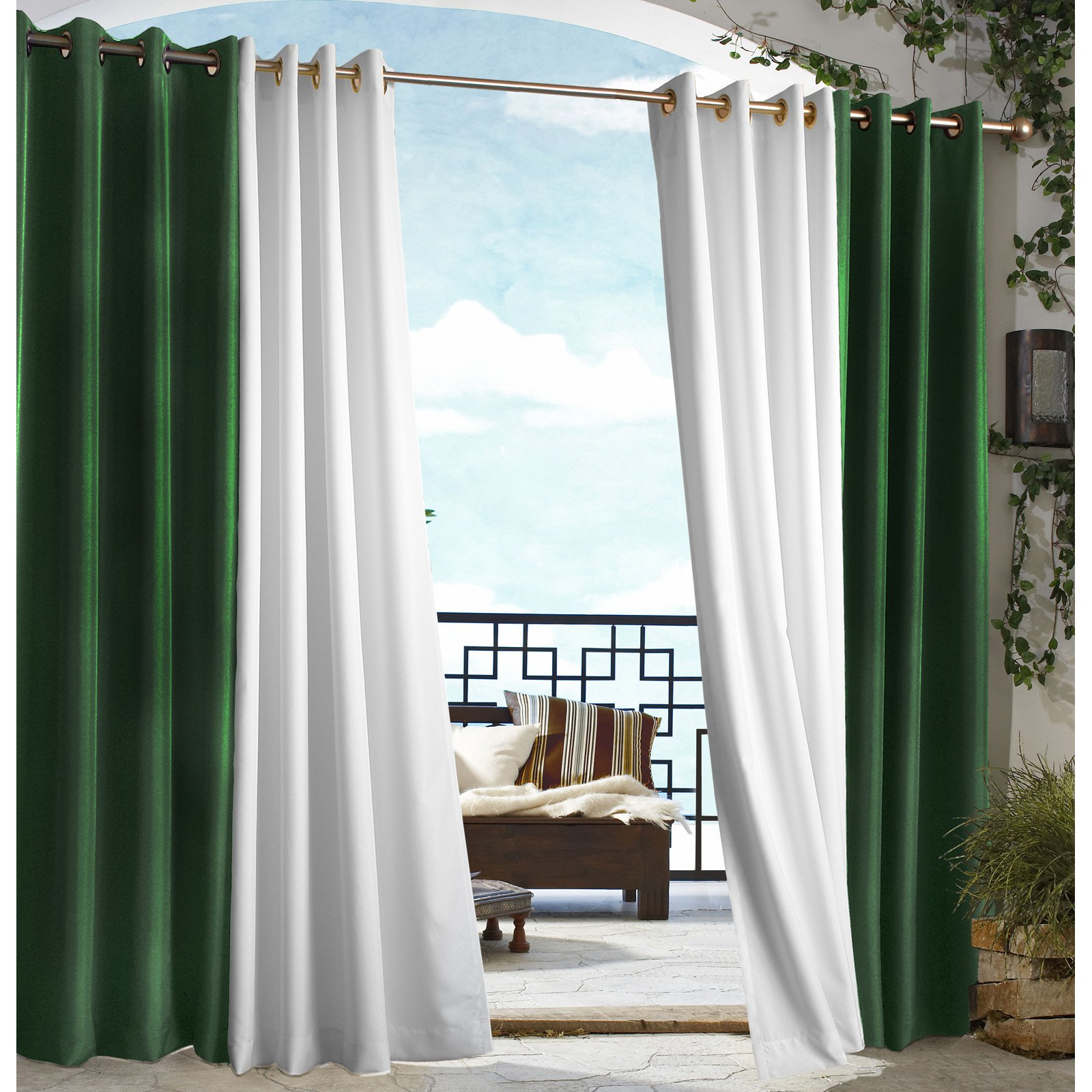 curtains winter outdoor on pergolas easy and providing make yourself for patio up s pin hang that by to this your warm pergola some fall insulation