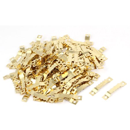 Cross Stitch Picture Frame Saw Tooth Sawtooth Hanger Gold Tone 45x8x3mm 200pcs - image 1 of 1