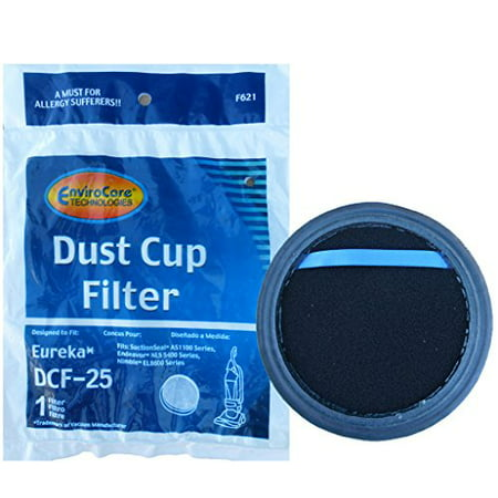 1 Eureka Upright Vacuum Cleaner Washable Allergy DCF-25 Dust Cup Filter #67600 82982-1 82982-2 Dcf 15 Dust Cup Filter