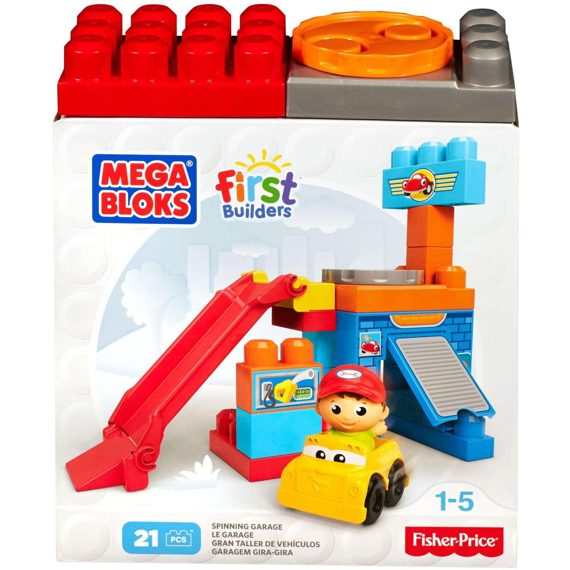 Mega Bloks First Builders Spin 'n Play Spinning Garage Playset by Mattel