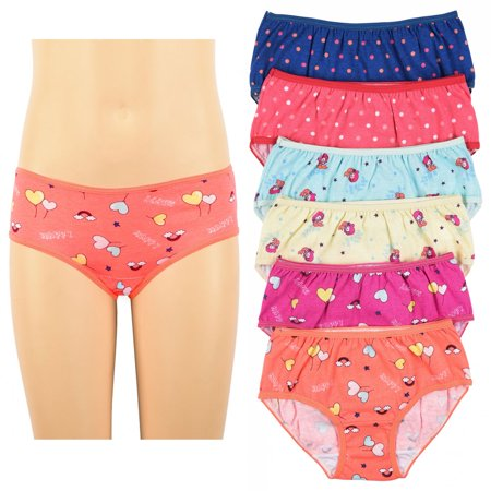 6 Pc Girls Underwear Panties 100% Cotton Cute Panty Stretch Kids Sizes M L XL](Parties For Kids)