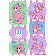 Pink Poodle in Paris Sticker Sheet, 4pk