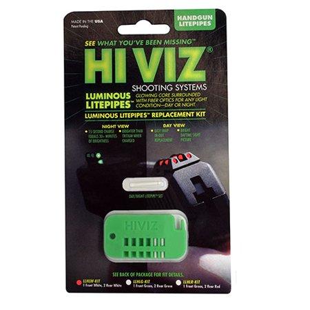 Rplmnt Kit - HIVIZ Sight Systems L Luminous LitePipe Rplcmnt Kit Front and Rear, White