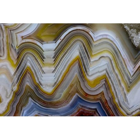 Mexican Crazy Lace Agate, Sammamish, Washington State Print Wall Art By Darrell (Mexican Crazy Lace)