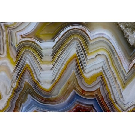 Mexican Lace Agate (Mexican Crazy Lace Agate, Sammamish, Washington State Print Wall Art By Darrell)