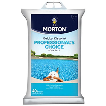Chlorine Chlorinator (40LB Pro Pool Salt, For Use With Salt Water Chlorinators By Morton Salt)