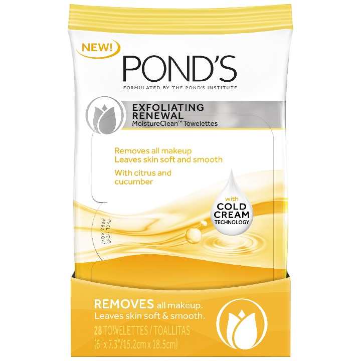 Pond's Moisture Clean Towelettes Exfoliating Renewal 28 ct