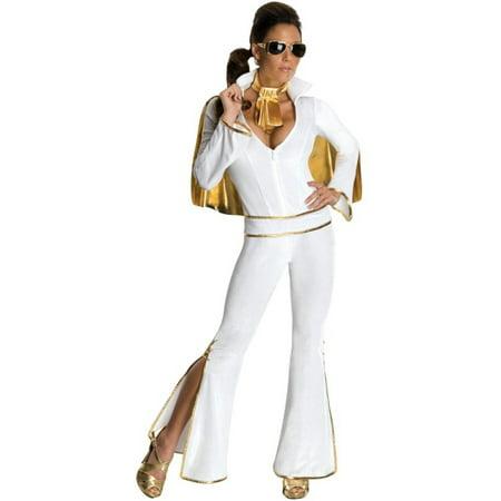 Morris Costumes Adult Womens Tv & Movie Characters Elvis Jumpsuit S, Style RU889055SM - Pro Elvis Jumpsuit
