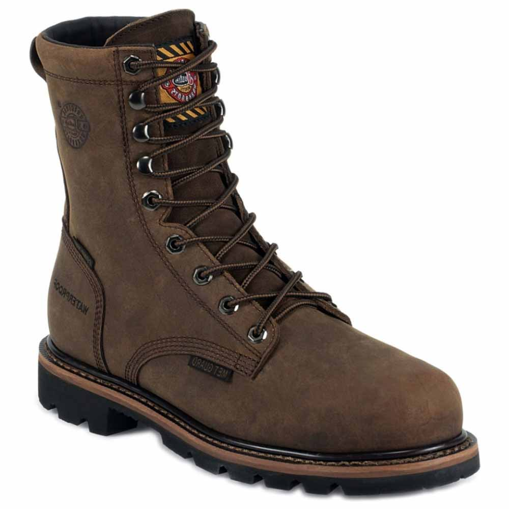 Justin Work Boots Men Worker II Wyoming WP CT Western Brown WK630