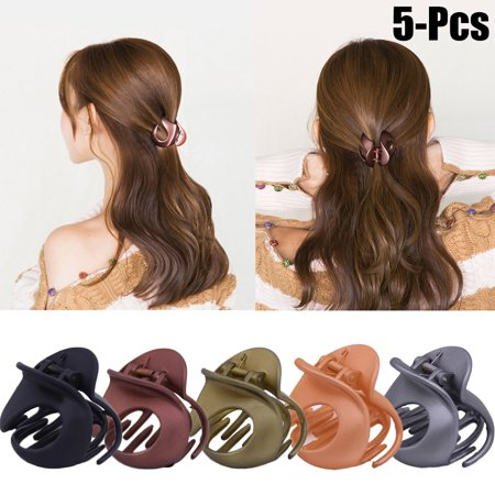 5Pcs Hair Claw, Coxeer Vintage Simple Irregular Non-Slip Claw Clips Jaw  Hair Clamps Hair Accessories for Women Girls