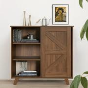 FurnitureR Vintage Design Side Table with 3 Shelves and One Drawer