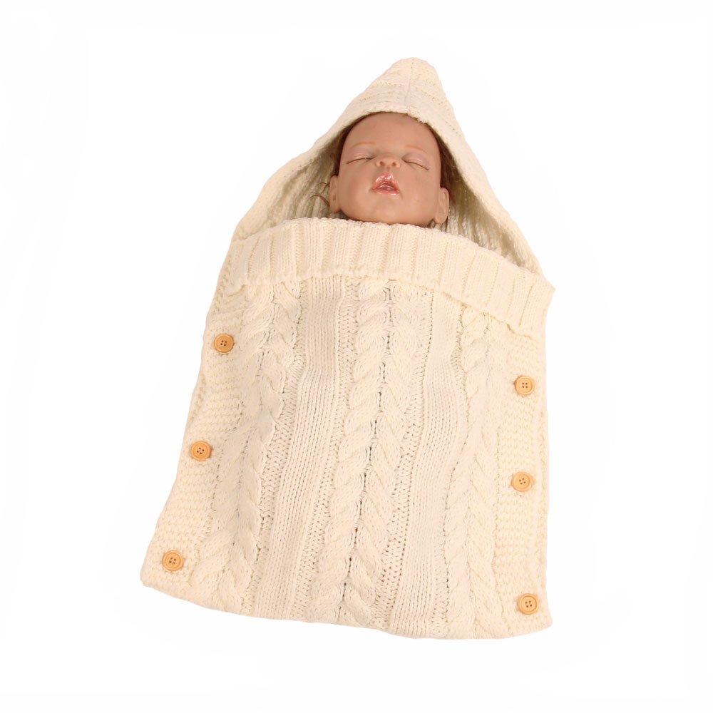Baby Sleeping Bags Cotton Knitting Newborn Baby Wrap Swaddle Blanket
