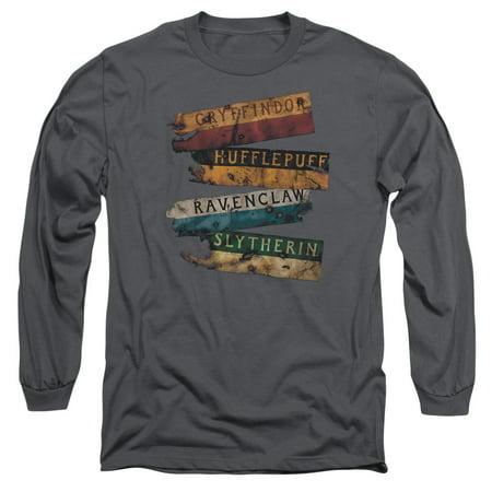 Harry Potter Burnt Banners Mens Long Sleeve Shirt for $<!---->