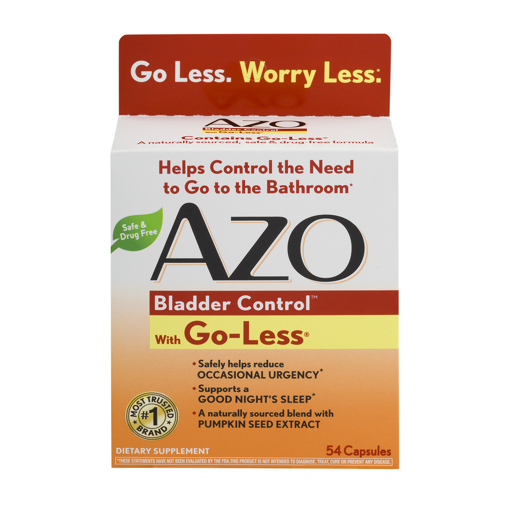 Azo Bladder Control With Go Less Dietary Supplement
