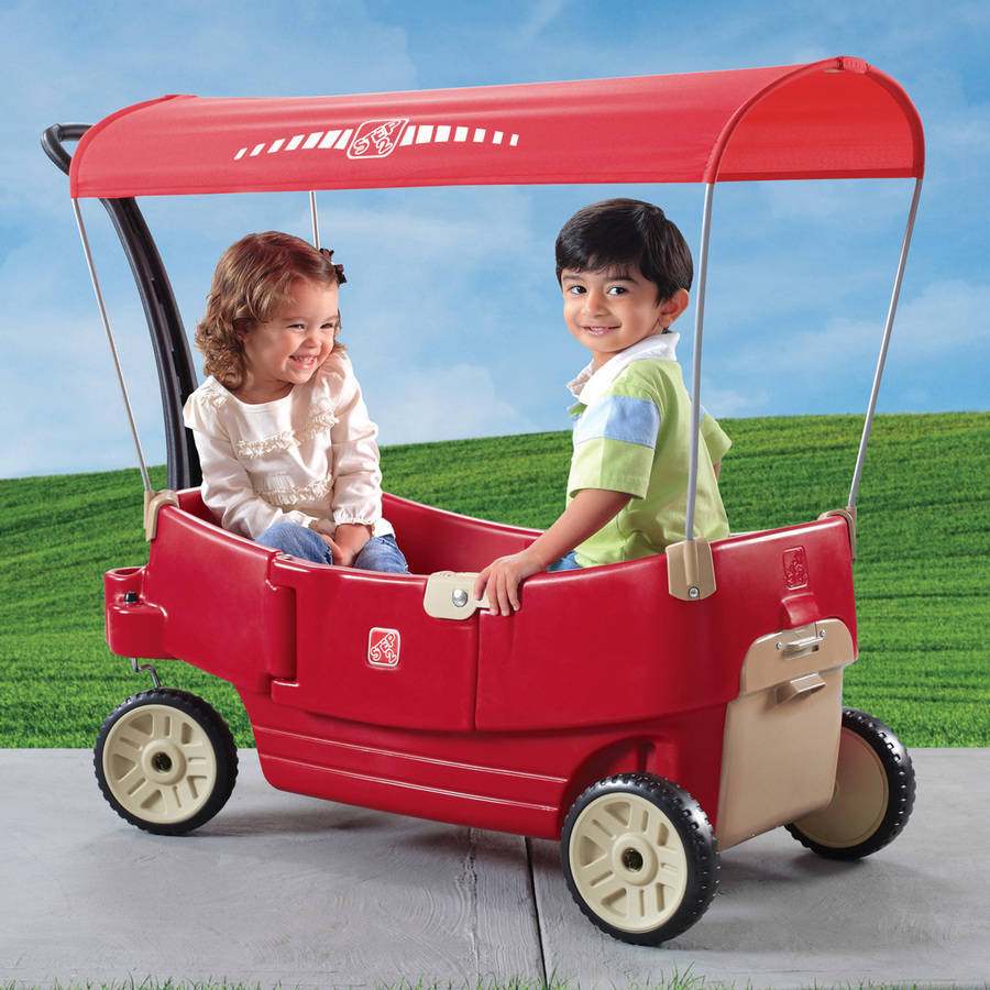 Step2 All Around Canopy Wagon, Red with Removable Canopy