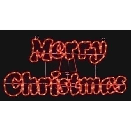 32 merry christmas red rope light outdoor outdoor decoration