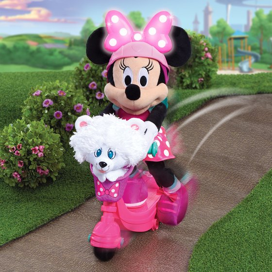 c4f2b83cb0251 Minnie s Happy Helpers Sing   Spin Scooter Minnie Plush - Walmart.com