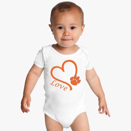 Clemson Tigers Love Baby Onesie for $<!---->