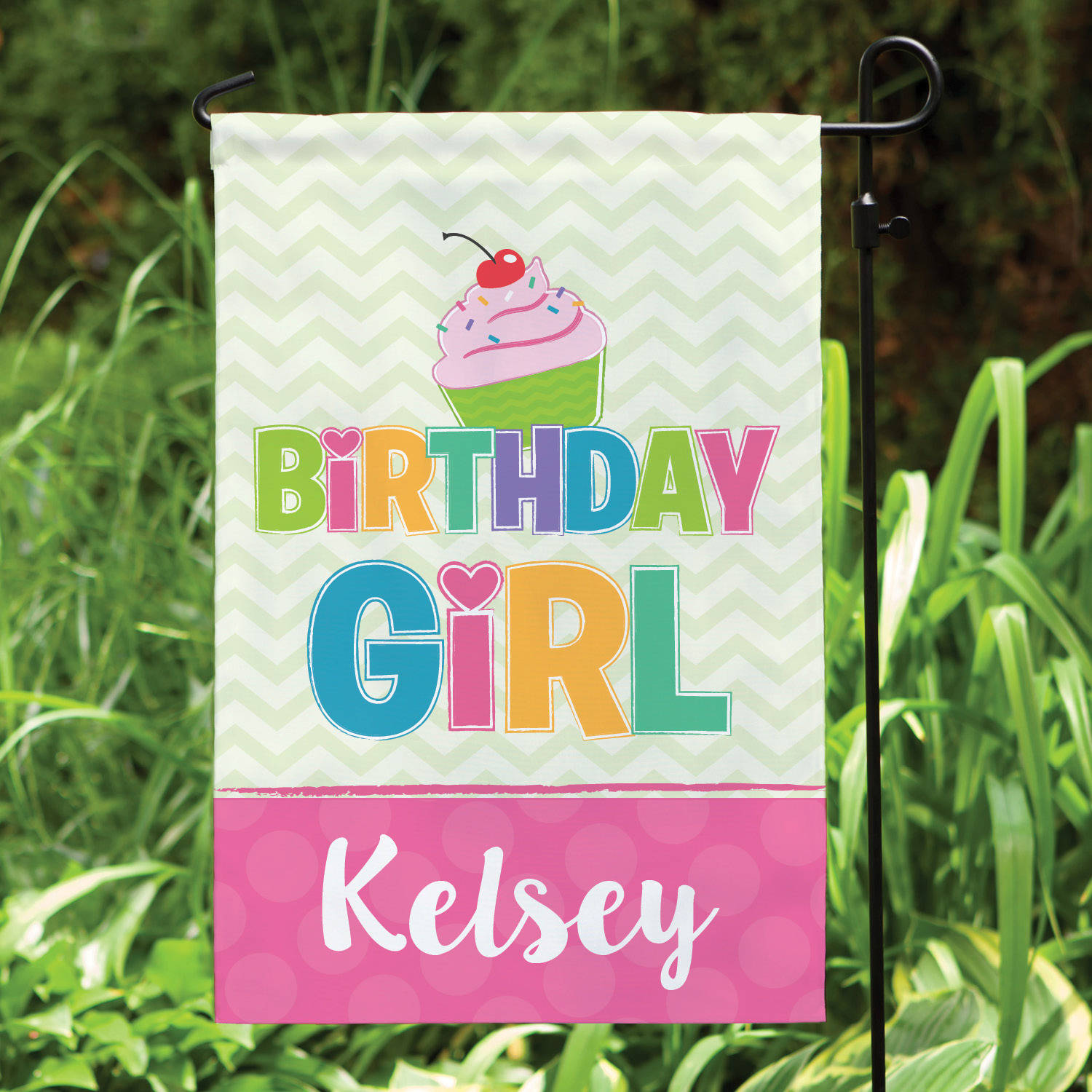 Birthday Girl Personalized Garden Flag