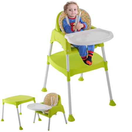 - Costway Green 3 in 1 Baby High Chair Convertible Table Seat Booster Toddler Feeding Highchair