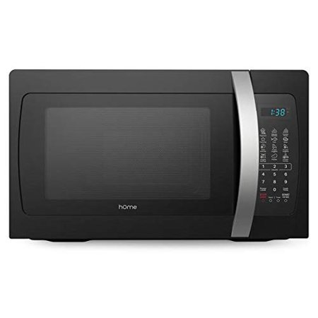 hOmeLabs Countertop Microwave Oven - 1.3 Cu. Ft., 1050W, Black with One-Touch Cook Functions, Dishwasher Safe Turntable and 10 Adjustable Power Settings