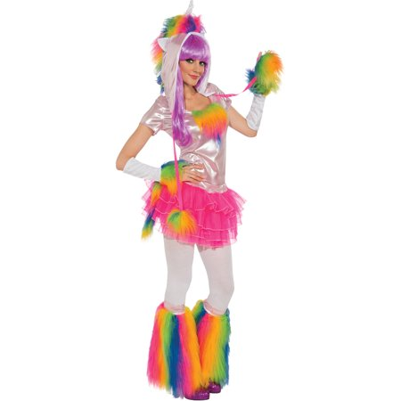 Adults Womens Rainbow Unicorn Clown My Pretty Pony Costume - Womens Monster Costumes