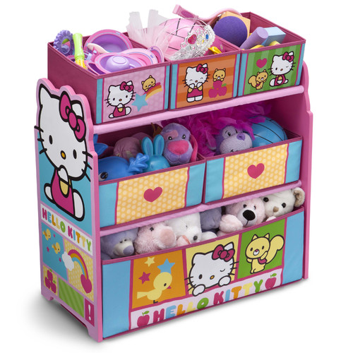 Hello Kitty Multi Bin Toy Organizer