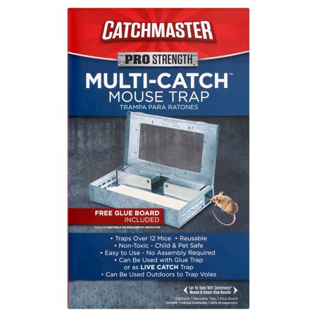 Catchmaster Multi-Catch Mouse Trap *1 Free Glue Board Included*