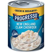 (4 pack) Progresso Rich & Hearty New England Clam Chowder Soup
