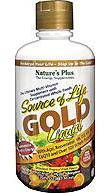 Source of Life Gold Liquid Tropical Fruit Nature's Plus 30 oz Liquid