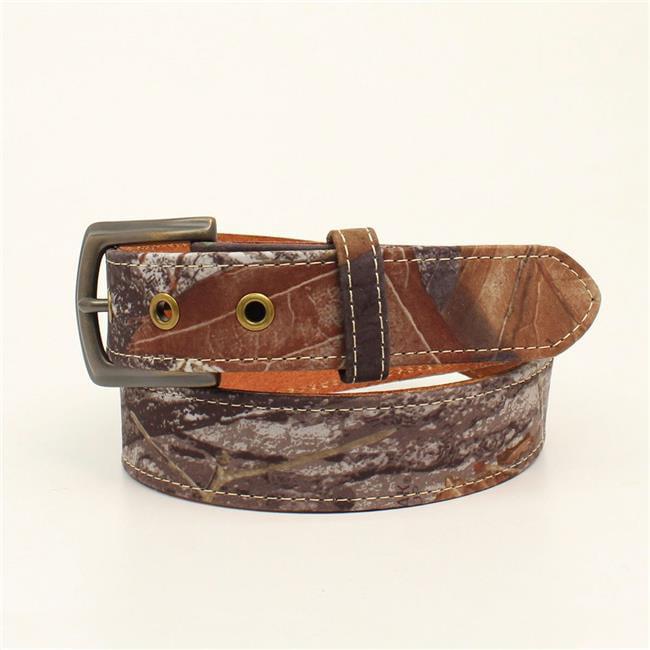 Nocona Western Boys Belt Kids Leather Overlay Oval Concho Brown N4437002
