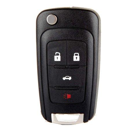 Replacement Folding Car Key Fob Keyless Entry Remote Control Key Fob Case for Chevrolet Camaro Cruze Chevy Equinox Sonic Terrain