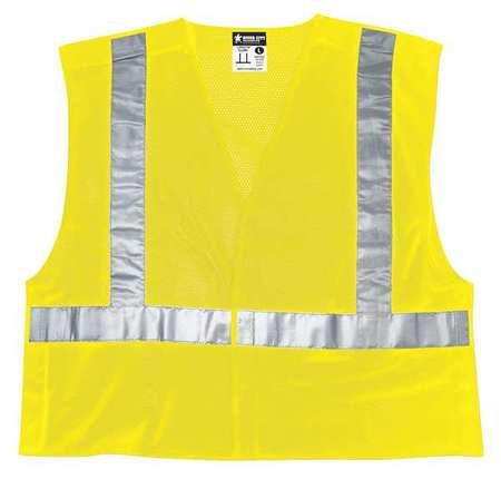 MCR SAFETY High Visibility Vest,Class 2,4XL CL2MLX4