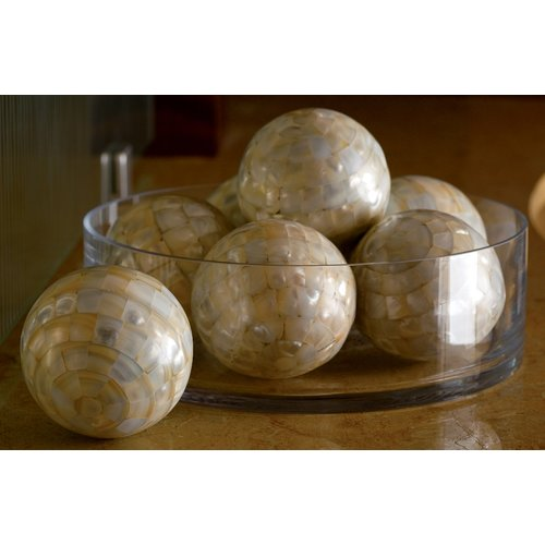 Kindwer 4 Piece Mother of Pearl Decorative Ball Set (Set of 4)