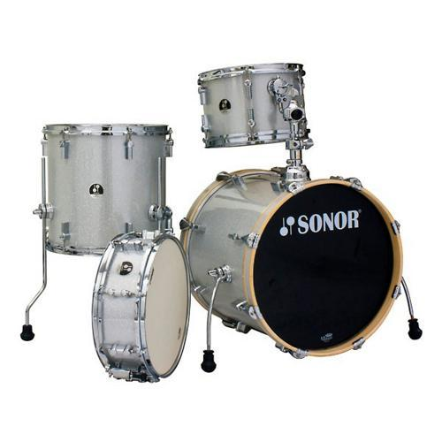 "Sonor ""Bop"" 4-pc Shell Pack, Silver Galaxy Sparkle"
