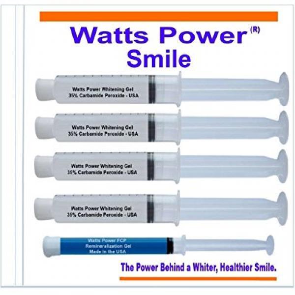 Watts Power EMN6WL Professional Teeth Whitening Gels Huge 10ml Gels Plus