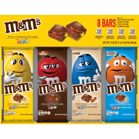 M&M's Chocolate Candy Bars with Minis Variety Pack (8 ct.) (Mini M&m Tubes)