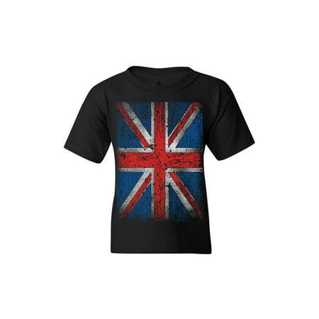 Shop4Ever Youth Union Jack British Flag UK Graphic Youth (Union Gap Uk)