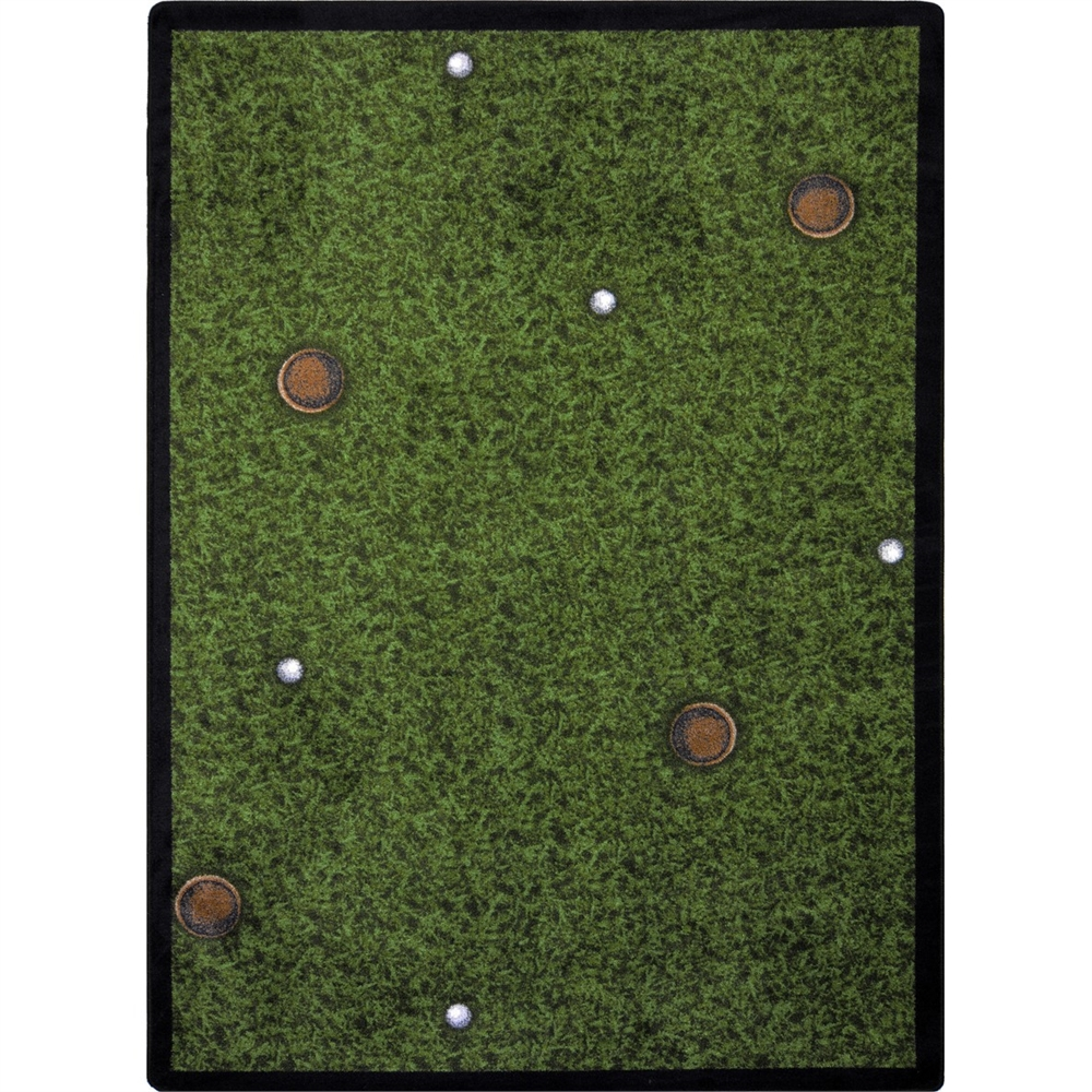 "Games People Play - Gaming & Sports Area Rugs Back Nine, 10'9"" x 13'2"", Multicolored"